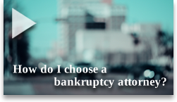 Sam Gregory discusses what to look for when hiring a bankruptcy attorney.