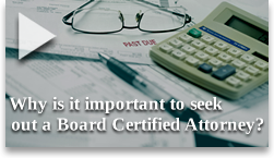 Sam Gregory explains the qualifications necessary to become a Board Certified Attorney.